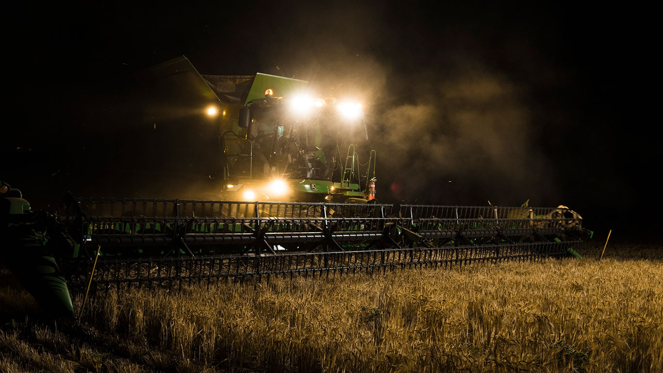 combine at night