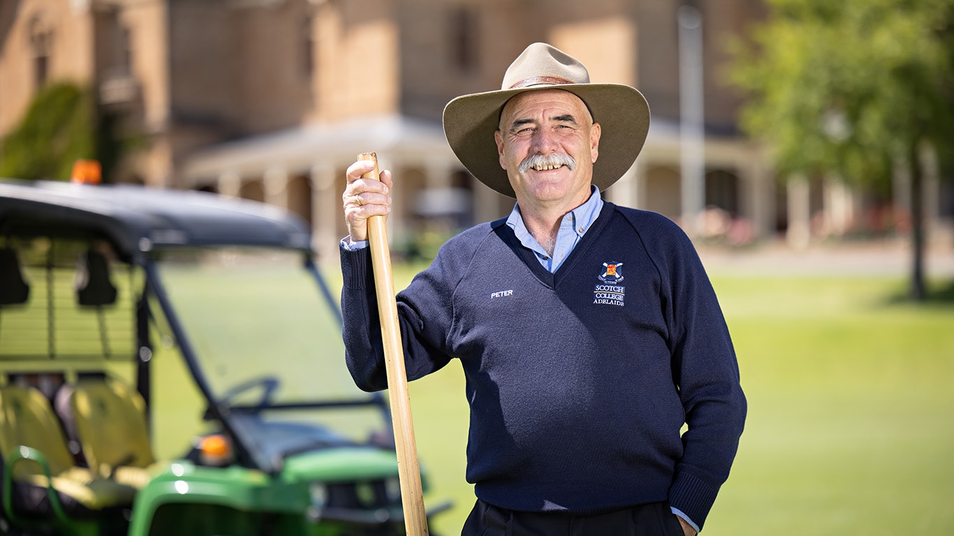 Scotch College Adelaide Grounds and Horticulture Manager Peter Harfield