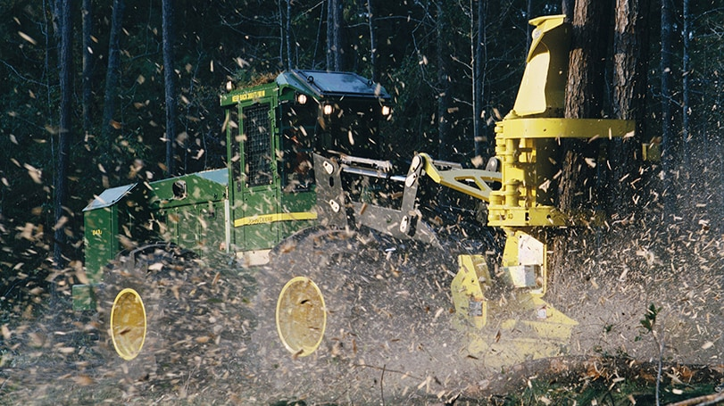 FD22B Felling Head in the field