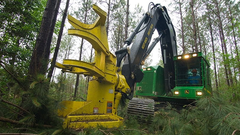 FS20 Felling Head in the field