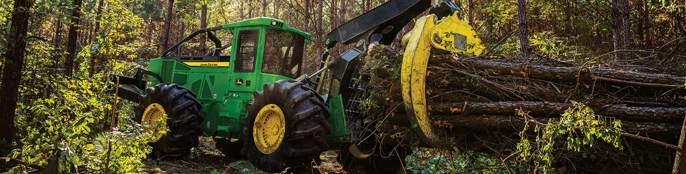 skidder moving timber