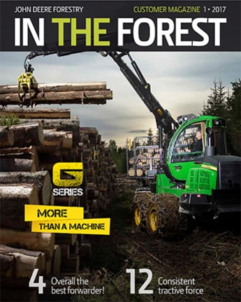 In The Forest customer magazine 1/2017 cover page