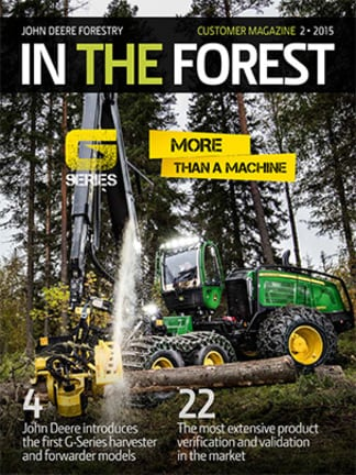 In The Forest 2/2015 customer magazine's cover