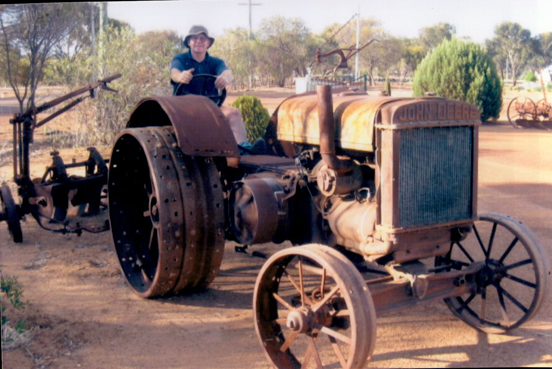 The Model D Tractor before the restoration
