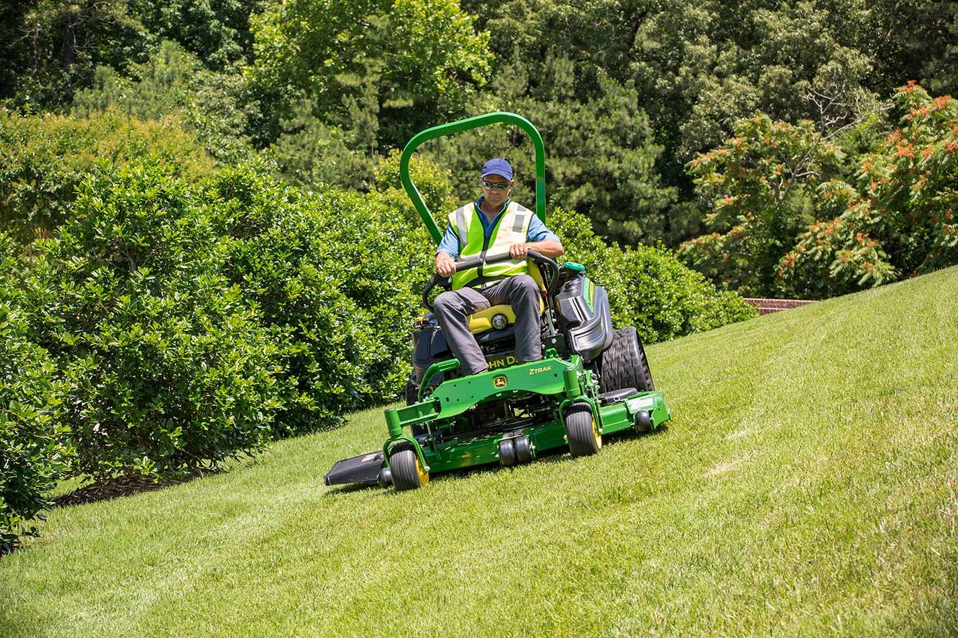 A man mowing lawn on a Z994R ZTrak zero-turn mower