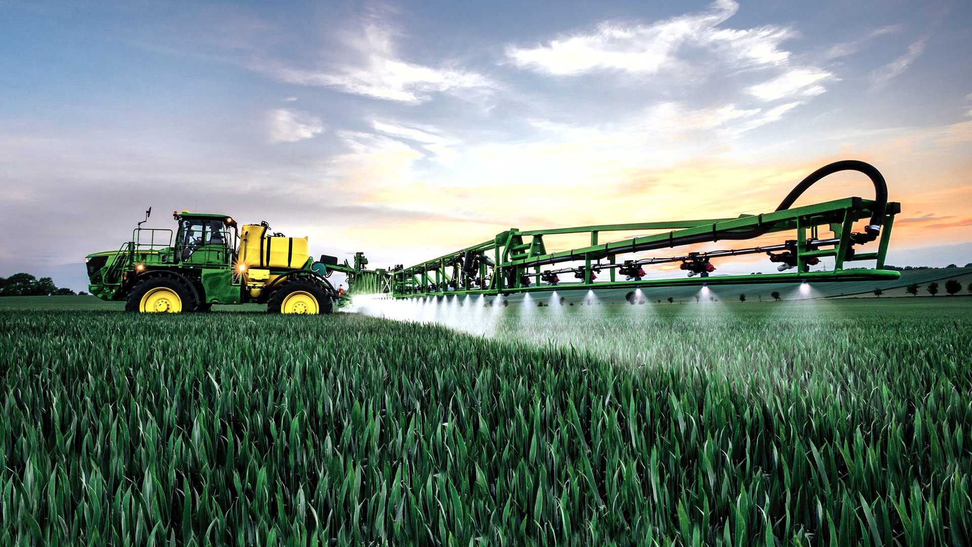 image of sprayer in a field