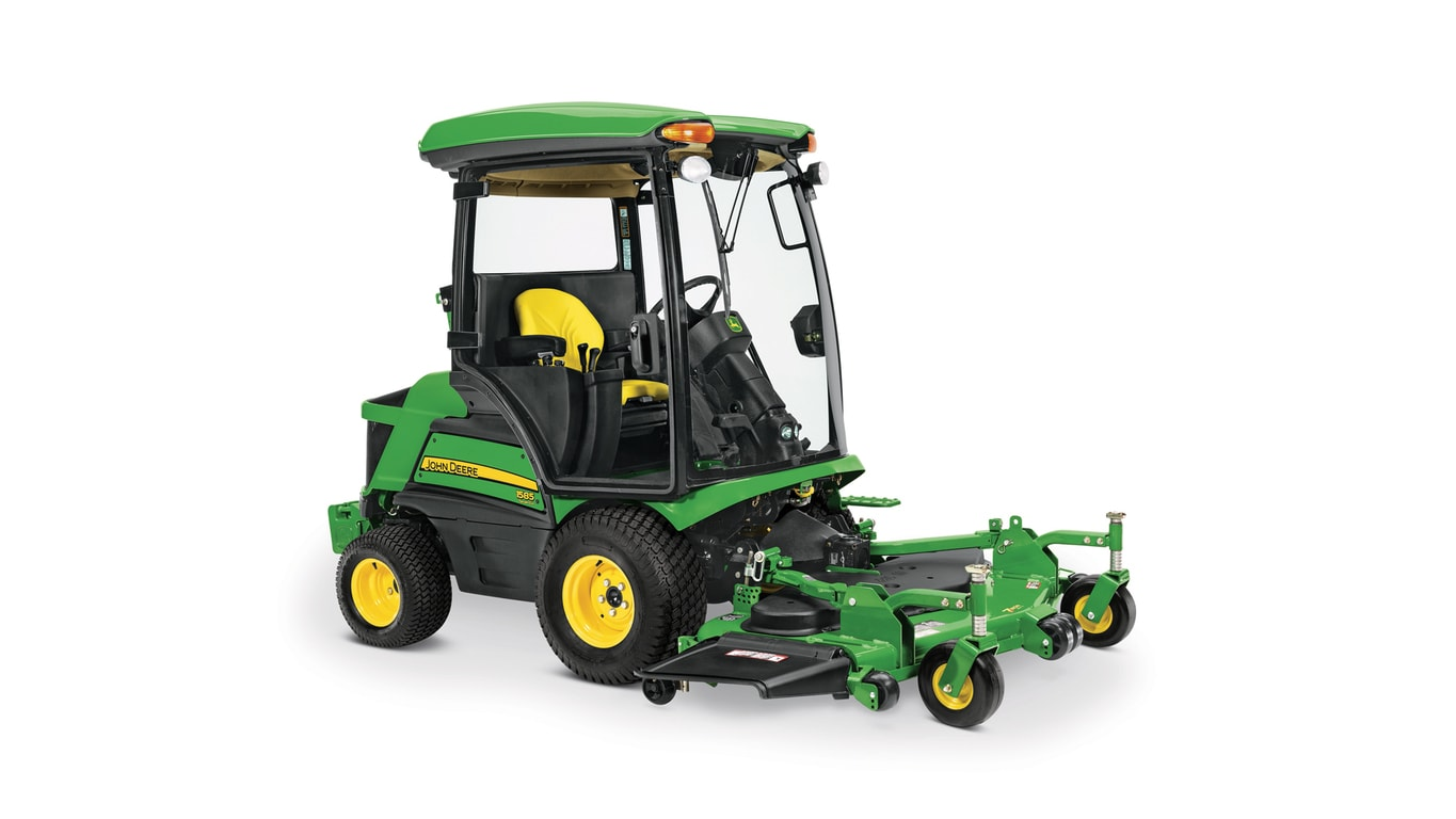 Diesel front mower with climate controlled cabs, ideal for everyday use.
