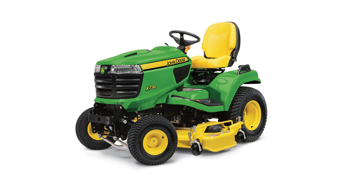 High-performance ride on mower with 4-wheel steering, for easy manoeuvrability