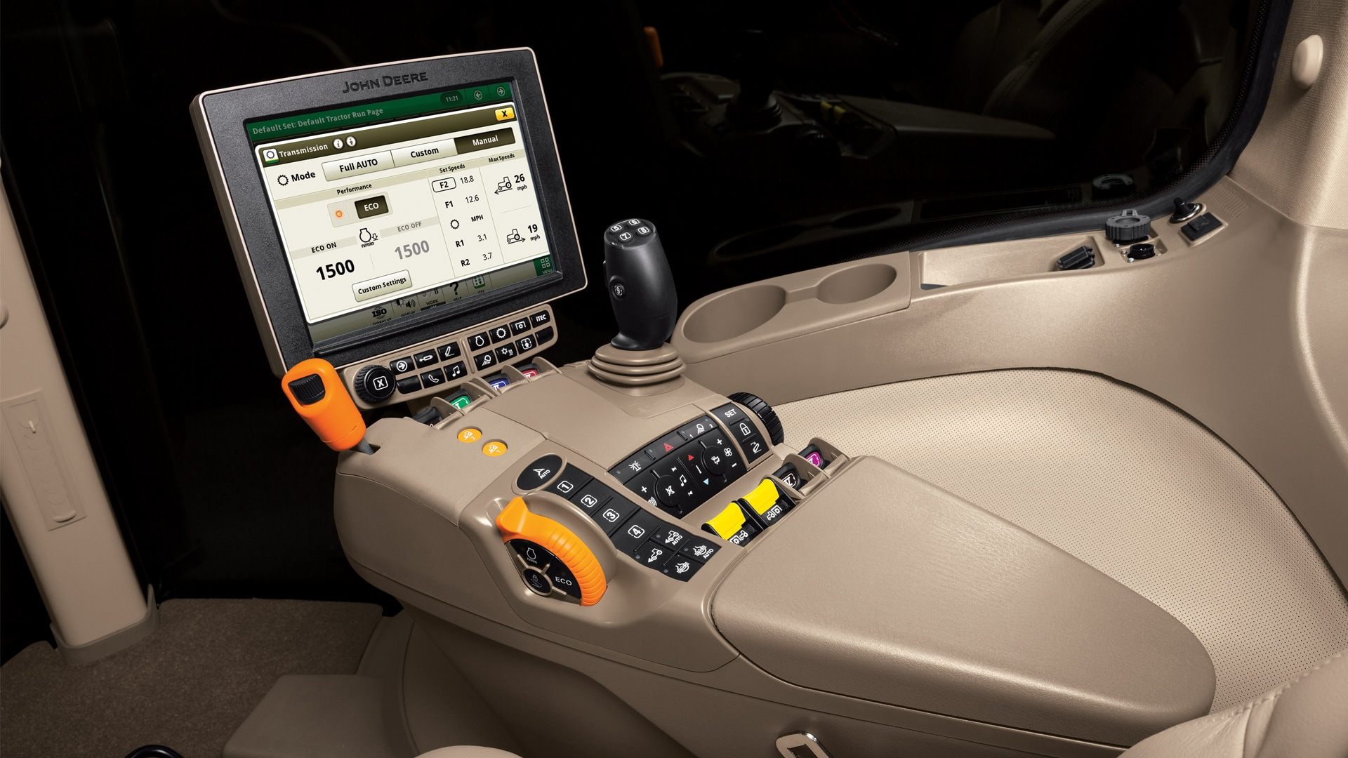 inside view of a cab for ag management solutions
