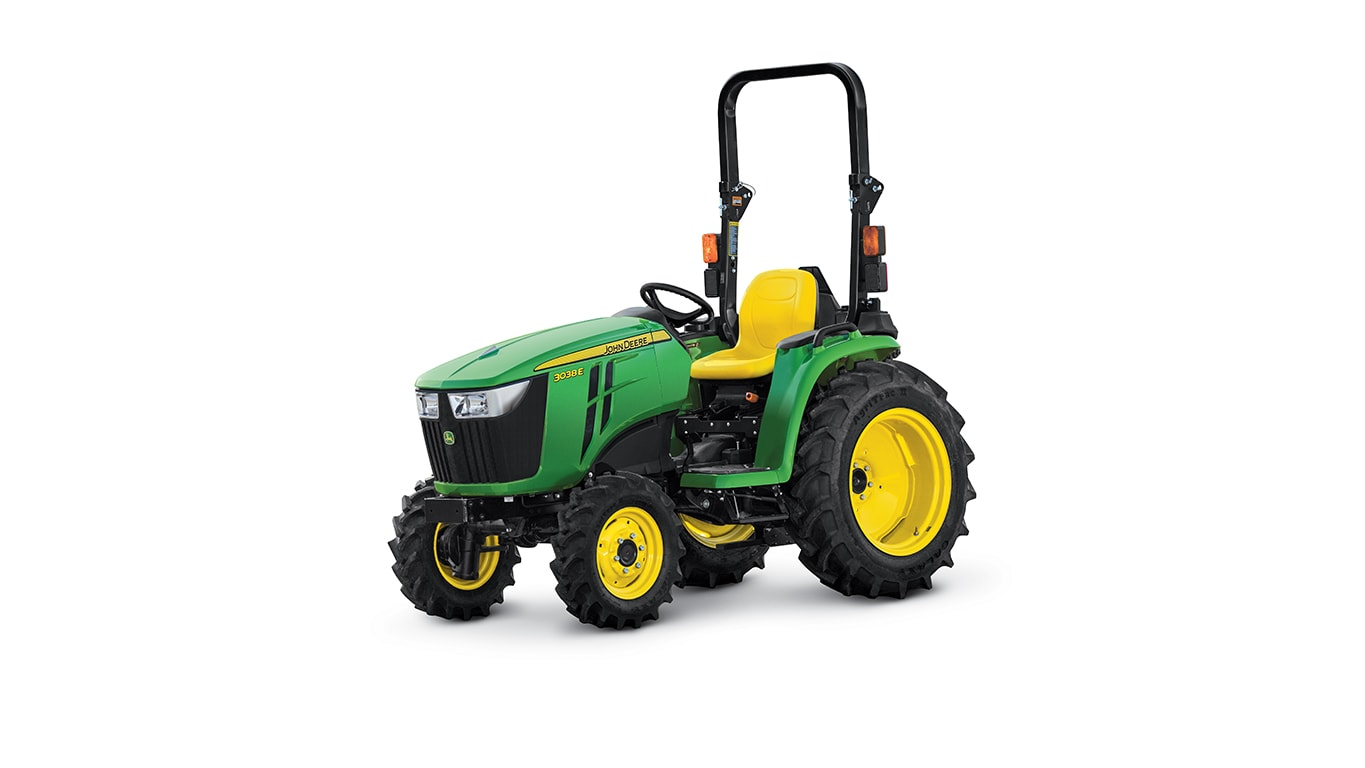 3 Series small tractor with attachments.